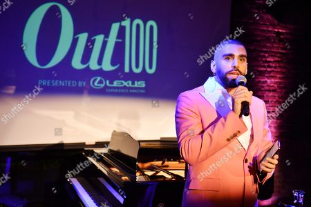 Phillip Picardi at the Out magazine Out100 Event, presented by Lexus