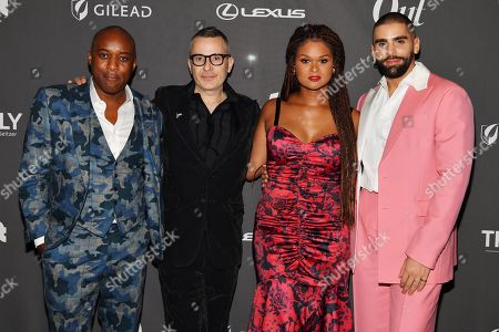 Orlando Reece, Raquel Willis and Phillip Picardi at theÊOutÊmagazine Out100 Event, presented by Lexus