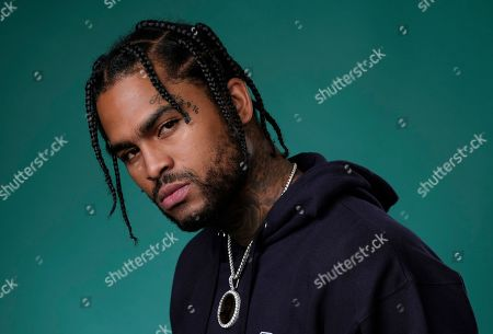 """Dave East, a cast member in the Hulu series """"Wu-Tang: An American Saga,"""" posing for a portrait in Beverly Hills, Calif. """"Survival,"""" which debuted at No. 11 on the Billboard Top 200 albums this week, is East's official album debut, even though he's been widely known in the hip-hop community for the past few years, releasing numerous popular mixtapes and EPs. He's also collaborated with high profile artists such as Chris Brown, Meek Mill, 2 Chainz and Mac Miller"""