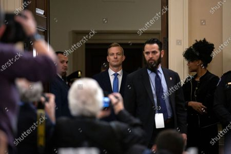 Counselor for Political Affairs at the U.S. Embassy in Ukraine David Holmes arrives to testify before the U.S. House Permanent Select Committee on Intelligence on Capitol Hill