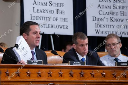 United States Representative Devin Nunes (Republican of California) delivers opening remarks prior to the testimony of Former National Security Council Russia expert Fiona Hill and Counselor for Political Affairs at the U.S. Embassy in Ukraine David Holmes before the U.S. House Permanent Select Committee on Intelligence on Capitol Hill