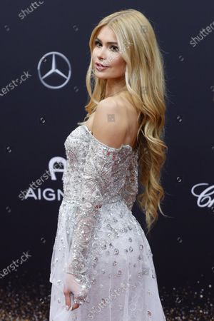 Stock Photo of Pamela Reif attends the 71th annual Bambi awards ceremony in Baden Baden, Germany, 21 November 2019. The awards recognize excellence in international media and television.