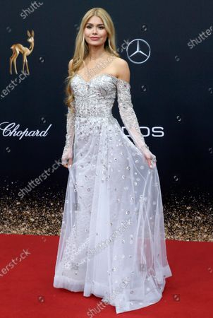 Stock Image of Pamela Reif attends the 71th annual Bambi awards ceremony in Baden Baden, Germany, 21 November 2019. The awards recognize excellence in international media and television.