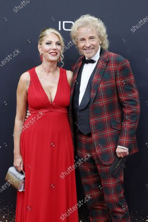 Stock Photo of Thomas Gottschalk and Karina Mross attend the 71th annual Bambi awards ceremony in Baden Baden, Germany, 21 November 2019. The awards recognize excellence in international media and television.