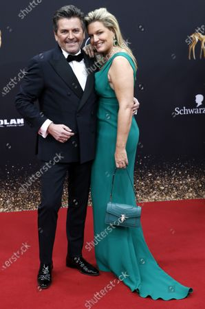 Thomas Anders and wife Claudia Hess attend the 71th annual Bambi awards ceremony in Baden Baden, Germany, 21 November 2019. The awards recognize excellence in international media and television.
