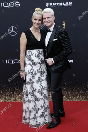 Guido Cantz and Kerstin Ricker attend the 71th annual Bambi awards ceremony in Baden Baden, Germany, 21 November 2019. The awards recognize excellence in international media and television.
