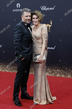 Hardy Krueger JR and Alice Krueger attend the 71th annual Bambi awards ceremony in Baden Baden, Germany, 21 November 2019. The awards recognize excellence in international media and television.