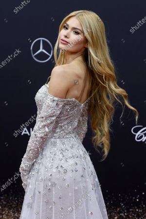 Stock Picture of Pamela Reif attends the 71th annual Bambi awards ceremony in Baden Baden, Germany, 21 November 2019. The awards recognize excellence in international media and television.