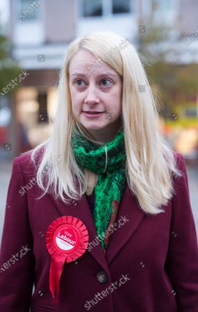 Local Labour candidate Mhairi Threlfall, on a visit to Fountain Square, Broad Street, in the seat of Filton and Bradley Stoke on the day Labour launched their manifesto