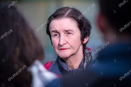 Stock Photo of Nia Griffith, Labour shadow defence secretary, visits Fountain Square, Broad Street, in the seat of Filton and Bradley Stoke on the day Labour launched their manifesto