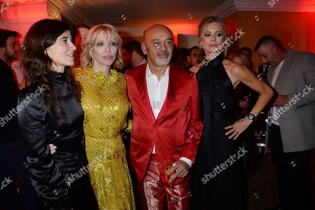 Bella Freud, Courtney Love, Christian Louboutin and Laura Bailey