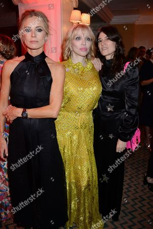Laura Bailey, Courtney Love and Bella Freud