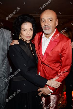 Bianca Jagger and Christian Louboutin