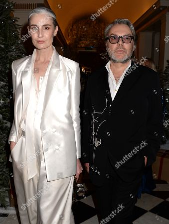 Stock Picture of Erin O'Connor and David Downton
