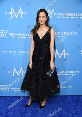 Stock Image of Allie Rizzo walks the red carpet at the Humane Society of the United States To the Rescue! New York Gala on in New York. In its tenth year, the event honored consumer goods company Unilever; MUTTS cartoonist and children's book author Patrick McDonnell; and the Alex & Elisabeth Lewyt Charitable Trust. The evening was hosted by Jerry O'Connell and Rebecca Romijn and featured a performance by singer-songwriter Gavin DeGraw