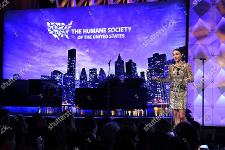 Georgina Bloomberg speaks on stage at the Humane Society of the United States To the Rescue! New York Gala on in New York. In its tenth year, the event honored consumer goods company Unilever; MUTTS cartoonist and children's book author Patrick McDonnell; and the Alex & Elisabeth Lewyt Charitable Trust. The evening was hosted by Jerry O'Connell and Rebecca Romijn and featured a performance by singer-songwriter Gavin DeGraw