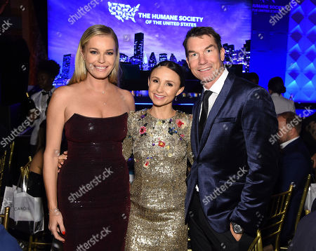 Rebecca Romijn, Georgina Bloomberg and Jerry O'Connell pose for a photo at the Humane Society of the United States To the Rescue! New York Gala on in New York. In its tenth year, the event honored consumer goods company Unilever; MUTTS cartoonist and children's book author Patrick McDonnell; and the Alex & Elisabeth Lewyt Charitable Trust. The evening was hosted by Jerry O'Connell and Rebecca Romijn and featured a performance by singer-songwriter Gavin DeGraw