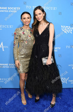 Georgina Bloomberg and Allie Rizzo walk the red carpet at the Humane Society of the United States To the Rescue! New York Gala on in New York. In its tenth year, the event honored consumer goods company Unilever; MUTTS cartoonist and children's book author Patrick McDonnell; and the Alex & Elisabeth Lewyt Charitable Trust. The evening was hosted by Jerry O'Connell and Rebecca Romijn and featured a performance by singer-songwriter Gavin DeGraw