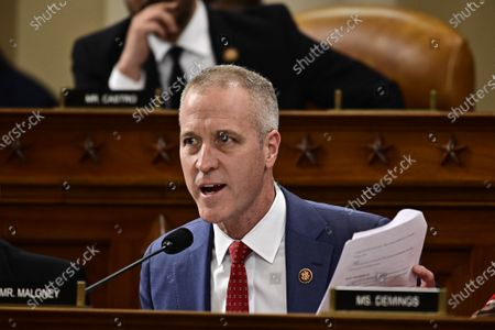 United States Representative Sean Patrick Maloney (Democrat of New York) questions Ambassador Gordon Sondland, United States Ambassador to the European Union, as he testifies during the US House Permanent Select Committee on Intelligence public hearing as they investigate the impeachment of US President Donald J. Trump on Capitol Hill in Washington, DC.