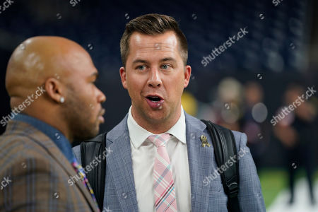 NFL Network's James Palmer following an NFL football game between the Houston Texans and the Indianapolis Colts, in Houston