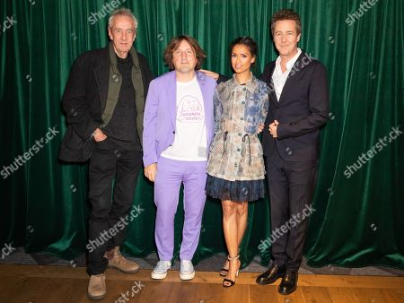 Dick Pope, Gugu Mbatha-Raw, Daniel Pemberton and Edward Norton
