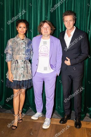 Gugu Mbatha-Raw, Daniel Pemberton and Edward Norton