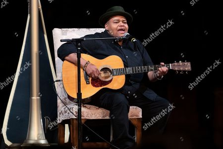 Musician Toshi Reagon performs during the Celebration of the Life of Toni Morrison, at the Cathedral of St. John the Divine in New York. Morrison, a Nobel laureate, died in August at 88