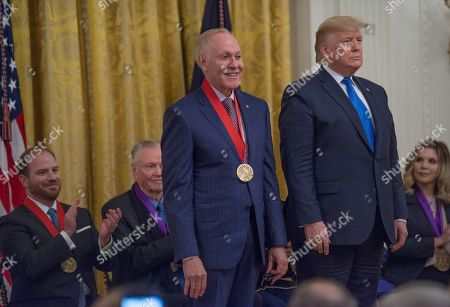 US President Donald Trump present the National Humanities Medal to Patrick O'Connell