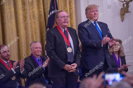 Stock Photo of US President Donald Trump present the National Humanities Medal to James Patterson