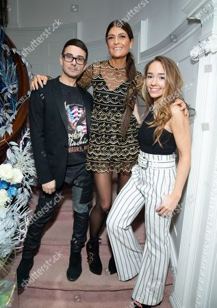 Christian Siriano, Ruthie Davis and Holly Taylor