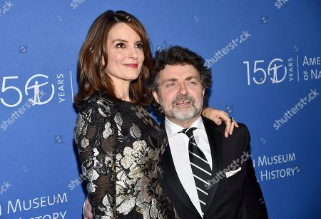 Tina Fey, Jeff Richmond. Actress Tina Fey, left, and husband Jeff Richmond attend the American Museum of Natural History's 2019 Museum Gala, in New York