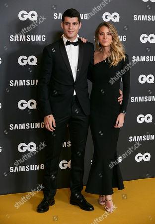 Stock Picture of Alvaro Morata and Alice Campello