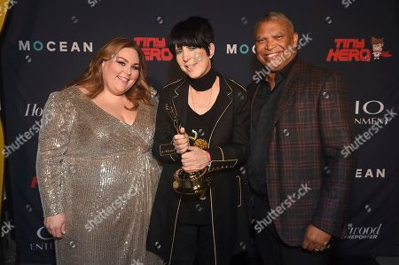 Reginald Hudlin, Chrissy Metz, Diane Warren. Chrissy Metz, from left, Diane Warren, and Reginald Hudlin pose with a Clio award at the 2019 Clio Entertainment Awards, at the Dolby Theatre in Los Angeles