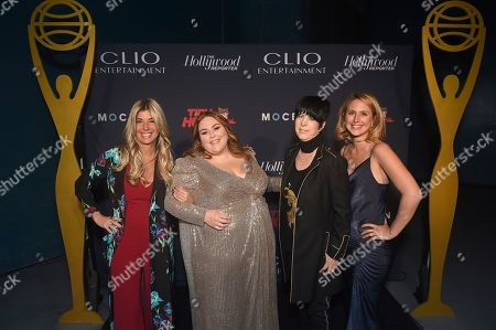Stock Picture of Nicole Purcell, Chrissy Metz, Diane Warren, Ashley Falls. Clio Entertainment President, Nicole Purcell, from left, Chrissy Metz, Diane Warren, and Ashley Falls, Clio Entertainment Director, attend the 2019 Clio Entertainment Awards, at the Dolby Theatre in Los Angeles