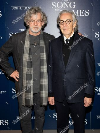 """Francois Girard, Howard Shore. Francois Girard, left, and Howard Shore, right, attend a special screening of """"The Song of Names"""", hosted by Sony Pictures Classics and The Cinema Society, at Regal Essex Crossing, in New York"""