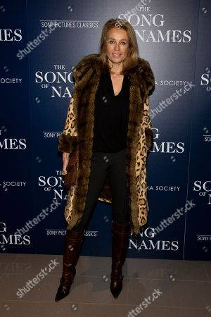 """Frederique van der Wal attends a special screening of """"The Song of Names"""", hosted by Sony Pictures Classics and The Cinema Society, at Regal Essex Crossing, in New York"""