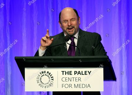"""Jason Alexander addresses the audience at """"The Paley Honors: A Special Tribute to Television's Comedy Legends"""" at the Beverly Wilshire Hotel, in Beverly Hills, Calif"""