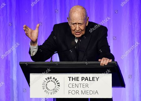 "Carl Reiner addresses the audience at ""The Paley Honors: A Special Tribute to Television's Comedy Legends"" at the Beverly Wilshire Hotel, in Beverly Hills, Calif"