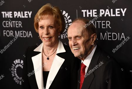 "Carol Burnett, Bob Newhart. Honorees Carol Burnett, left, and Bob Newhart pose together at ""The Paley Honors: A Special Tribute to Television's Comedy Legends"" at the Beverly Wilshire Hotel, in Beverly Hills, Calif"