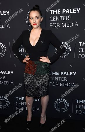 """Kat Dennings poses at """"The Paley Honors: A Special Tribute to Television's Comedy Legends"""" at the Beverly Wilshire Hotel, in Beverly Hills, Calif"""