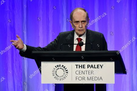 "Bob Newhart addresses the audience at ""The Paley Honors: A Special Tribute to Television's Comedy Legends"" at the Beverly Wilshire Hotel, in Beverly Hills, Calif"