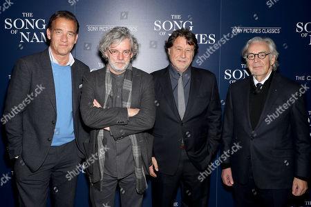 Stock Image of Clive Owen, Francois Girard (Director), Robert Lantos (Producer), Howard Shore (Composer)