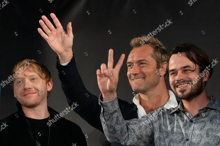 Rupert Grint, Jude Law and Daniel Logan
