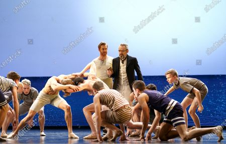 Stock Image of Tim Mead as the Voice of Apollo,Leo Dixon as Tadzio, Mark Padmore as Aschenbach,