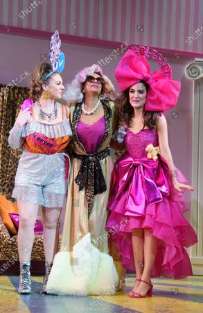 Stock Image of Mairi Barclay as Topsy, Shobna Gulati as Madame Meanie, Lauren Samuels as Popsy,