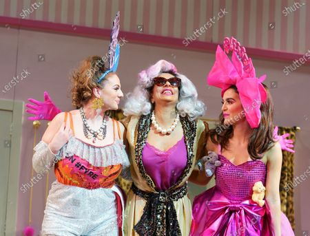 Mairi Barclay as Topsy, Shobna Gulati as Madame Meanie, Lauren Samuels as Popsy,