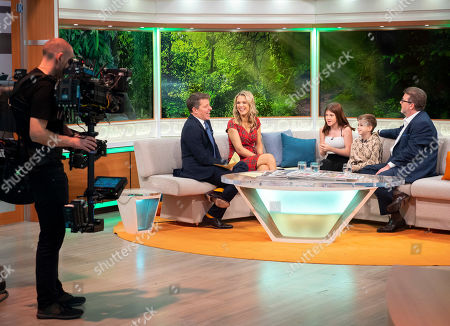 Ben Shephard, Charlotte Hawkins, Derek Draper with children Darcey Mary Draper and William Garraway Draper