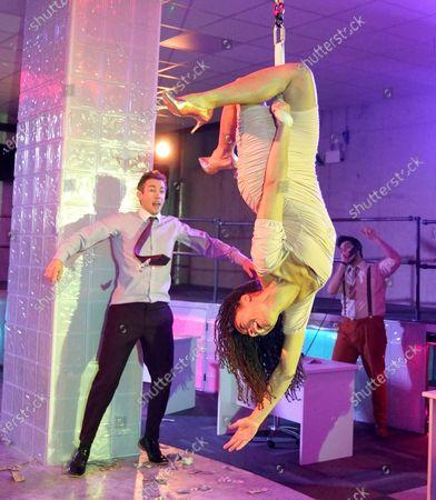 Stock Image of Oliver Tilney as Jordan, Rhiannon Harper-Rafferty as Nadine,