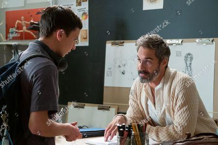 Keir Gilchrist as Sam Gardner and Eric McCormack as Professor Shinerock