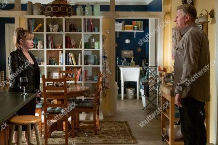Jennifer Jason Leigh as Elsa Gardner and Michael Rapaport as Doug Gardner
